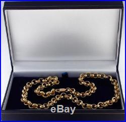 NEW Heavy Hallmarked 9ct Gold Ornate Belcher Chain 35.5G 22 RRP £1420 C16