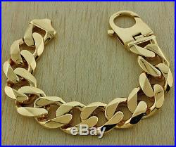 NEW XL 9ct Gold Heavy Weight Curb Bracelet 157.3G 9 RRP £6300 C254