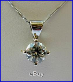 New 1/2ct Diamond Solitaire 9ct Gold Pendant & Chain £275 This weekend only