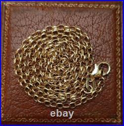 New 9ct Gold Belcher Chain Necklace. Hallmarked. 18 Inches
