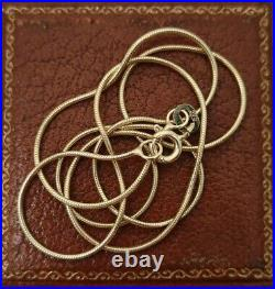 New 9ct Yellow Gold Articulated Round Snake Chain Necklace 16 Inches. Hallmarked