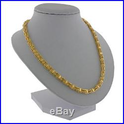 New Hallmarked 9ct Gold Hand-Made Italian Cage Chain 28 4.5mm RRP £1545 (I35)