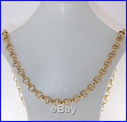New UK Hallmarked 9ct Gold Solid Belcher Chain 24 41.2 G RRP £1575 (BJ14)