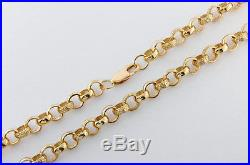 New UK Hallmarked 9ct Gold Solid Belcher Chain 30 49.5 G RRP £1965 (C16)