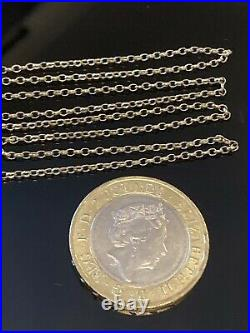 Nice 9ct solid gold 20 belcher chain necklace. Hallmarked Twice, Boxed