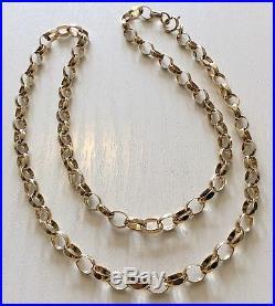 Nice Quality Full Hallmarked Vintage 9ct Gold Belcher Chain 9ct Neck Chain 18