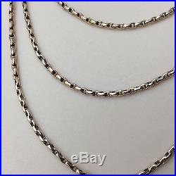 OUTSTANDING VICTORIAN 9ct GOLD LONGUARD CHAIN 57 (147 CM) LONG