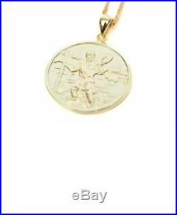 Palace Saint Criss 9ct gold rare chain st Christopher 18in pendant chain supreme