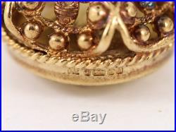 Pocket Watch Albert Chain Citrine Fob Rare Vintage 9ct Gold 375 6.1g Ch61