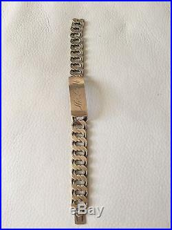 RARE 1970's 375 / 9CT GOLD BRACELET, WEIGHT 55 GRAMS, HALLMARKED