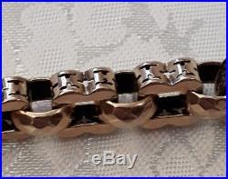 RARE Ornate Victorian 9 Ct Gold Albert Watch Chain + Fob HEAVY 49.68 grammes