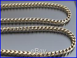RARE VINTAGE 9ct GOLD ARTICULATED OPEN SNAKE LINK NECKLACE CHAIN 23 inch 1995