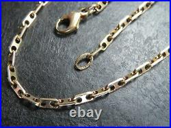RARE VINTAGE 9ct GOLD FANCY ANCHOR LINK NECKLACE CHAIN 19 inch 1989