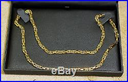 +++REDUCED+++ LOVELY HEAVY SOLID 9 CT GOLD BYZANTINE LINK 21 INCH CHAIN++ 50g+++