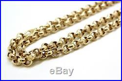 REDUCED Stunning solid 9ct gold men's chunky belcher chain necklace hallmarked