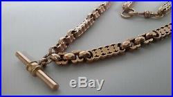 Rare Antique Victorian 9ct Rose Gold Fancy Link Albert Watch Chain