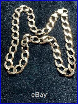 Reduced! Heavy 9ct gold curb chain 26 Inch 111 Gram