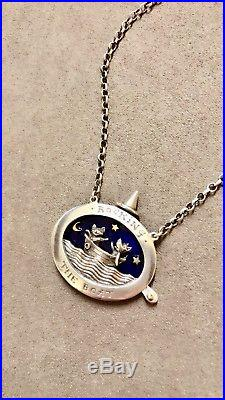 Rocking The Boat Dog And Cat silver and 9ct gold by Nick Hubbard 18inch Chain