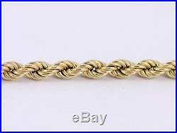 Rope Chain Necklace 9ct Gold Ladies Stunning 375 4.6g AH5
