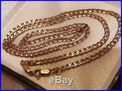 Rose 9ct gold Vintage Curb Chain 18.6.4 grms