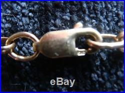 SOLID 375 9CT GOLDHEAVY BELCHER CHAIN 13 Grams 24 long