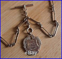 Solid 9ct Gold Pocket Watch Chain And Fob