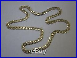 SOLID 9ct. GOLD 20 FLAT CURB CHAIN