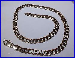 SUPER Solid 9ct Gold CURB Chain 20 49.4gr Hm 8mm links HEAVY