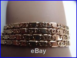 SUPERB FULLY HM 3mm wide STAMPED 375 SOLID 9ct GOLD FIGARO CHAIN 20 inch 11.2gm