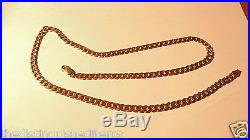 SUPERB HEAVY SOLID 9CT GOLD HALLMARKED 24 INCHES CURB LINK NECKLACE 31.9 grams