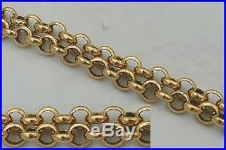 SUPERB HM 9ct GOLD 23 BELCHER LINK NECKLACE 40.6 g