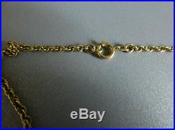 Solid. 375 / 9ct Gold Chain / Necklace 24inch 6.7grammes HM 1977