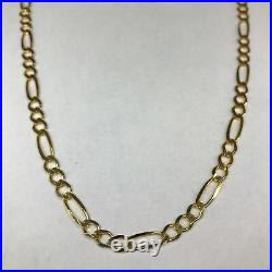 Solid 9ct 375 Yellow Gold Figaro Necklace 161820262830 (4.35mm)