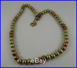 Solid 9ct Gold BEADS Necklace Chain 18 38.3gr 7mm links RRP£1900
