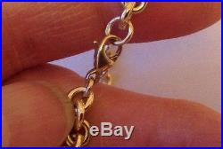 Solid 9ct Gold Belcher Chain Necklace. 18 Inches. Great Cond. 39.90 grams