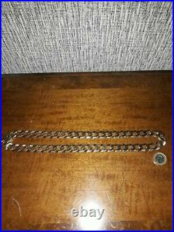 Solid 9ct Gold Curb Chain Mens Heavy 5 oz / 151g 22 inches long. NOT SCRAP