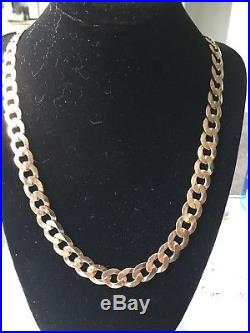 Solid 9ct Gold Flat Curb Link Heavy Chain Not Scrap Gold