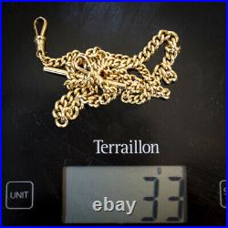 Solid 9ct Gold Graduated Albert Chain