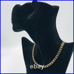 Solid 9ct Yellow Gold Curb Chain Necklace 5mm 19.4g 20 1/2 #427