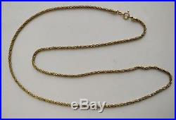 Solid 9ct gold 24 inch rope chain necklace hallmarked 10.2 grammes