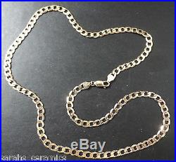 Solid 9ct gold Strong Flat Curb chain 23.7g nice high quliaty 24 inch STUNNING