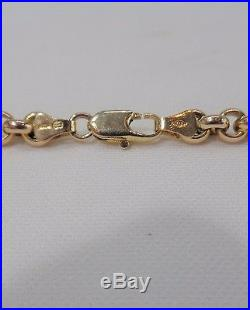 Solid Belcher Chain in 9ct Yellow Gold Length 20in (51cm) Weight 39.2g