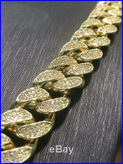 Solid Curb CUBAN Heavy 9ct Yellow Geniune Gold 13mm Wide Chain Men's 233gr 28
