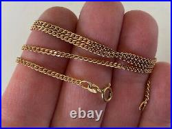 Strong Flat Curb Link 18.5 Inches Long 9ct Gold Chain Necklace 5.6 Grammes