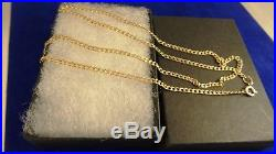 Strong Ladies Mens 9ct Gold 18 MICROCURB Chain Necklace Dia Cut 2mm4.2gr 409n