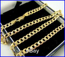 Stunning 9carat Yellow Gold Curb Necklace Chain Full 9ct gold hallmarked