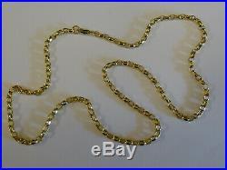 Stunning 9ct Gold 18 Diamond Cut Belcher Chain Fully hallmarked