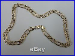 Stunning 9ct Gold 18 Patterned Figaro Chain