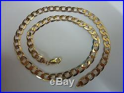 Stunning 9ct Gold 20 Curb Chain wonderful condition