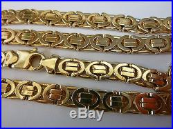 Stunning 9ct Gold 20 Flat Fancy Link Chain